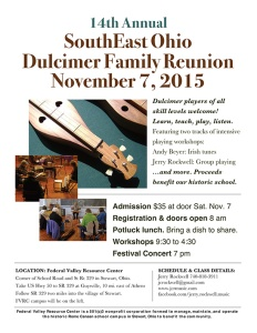 SouthEast Ohio Dulcimer Family Reunion Poster
